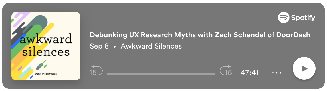Podcast on debunking UX research myths